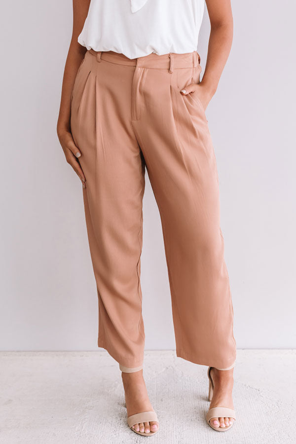 Office Goals High Waist Trousers In Iced Mocha
