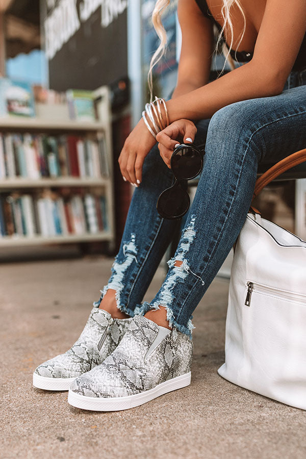 The Britton Snake Print Bootie