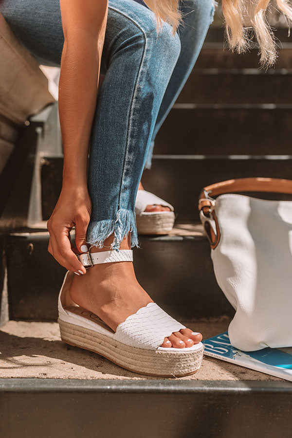 The Tipton Espadrille In White