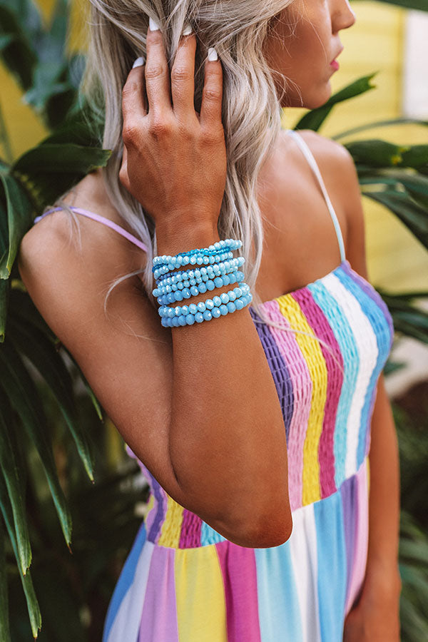 Better In L.A Bracelet Set In Ocean Blue