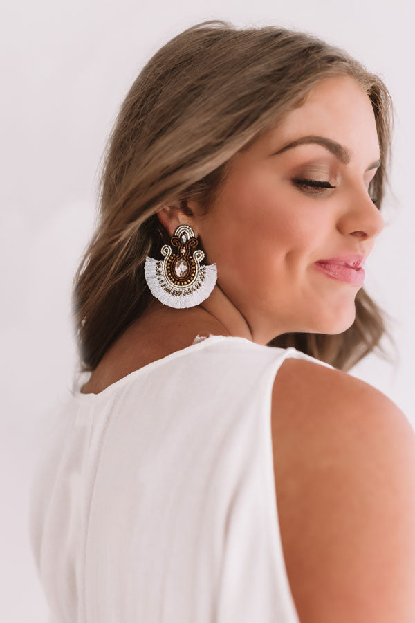 Met Gala Moment Earrings In White