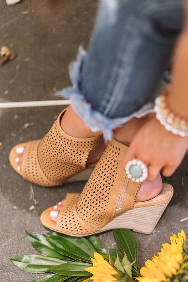The Wynn Wedge In Tan