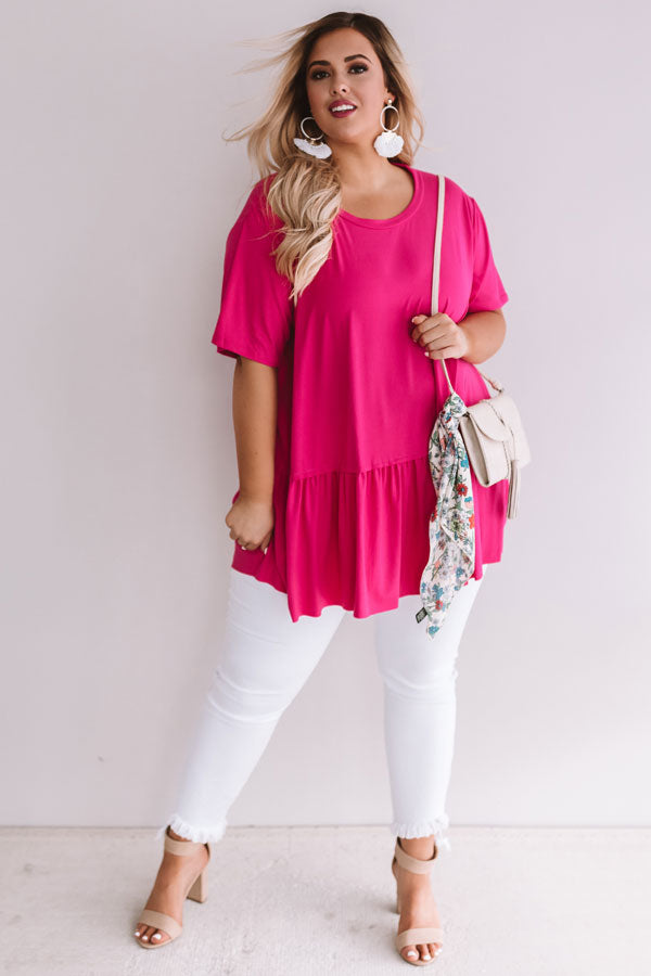 Weekend Comforts Shift Top In Pink