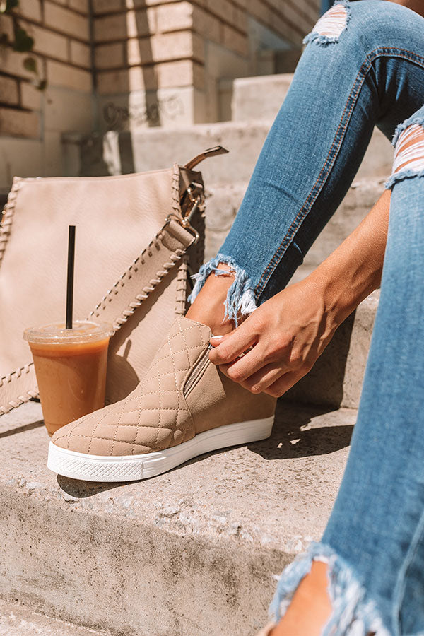The Britton Bootie In Iced Latte