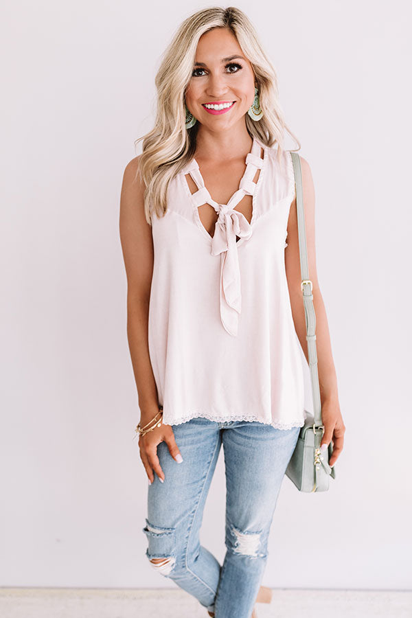 Beverly Hills Happy Hour Tank In Rose Quartz