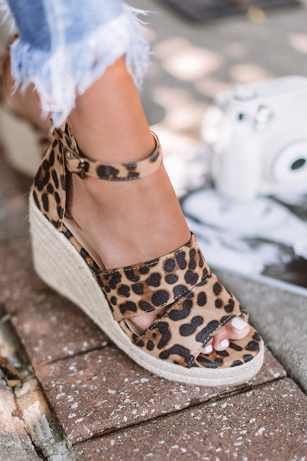 The Currington Leopard Espadrille Wedge