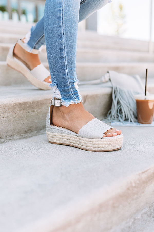 The Tipton Espadrille In Grey