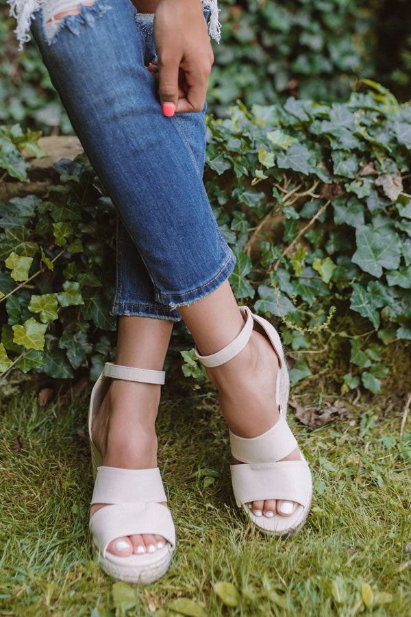 The Currington Espadrille Wedge In Stone