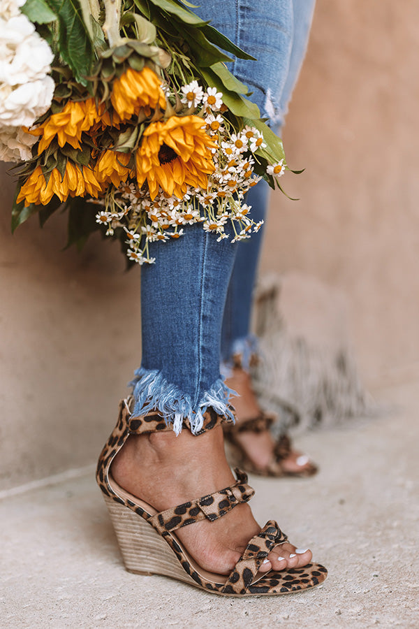 The Byrdie Leopard Wedge