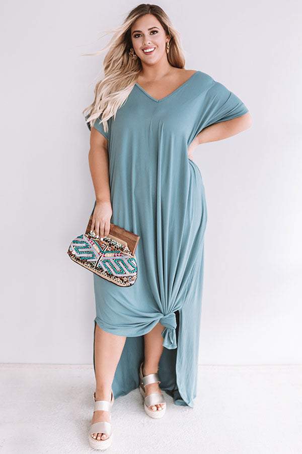 Just My Type T-Shirt Maxi In Light Slate