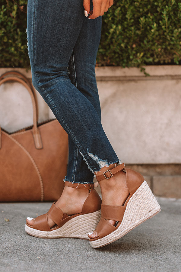 The Currington Espadrille Wedge In Tan