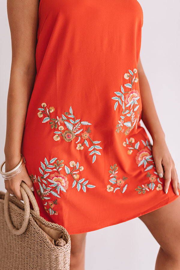 Spanish Coast Embroidered Dress