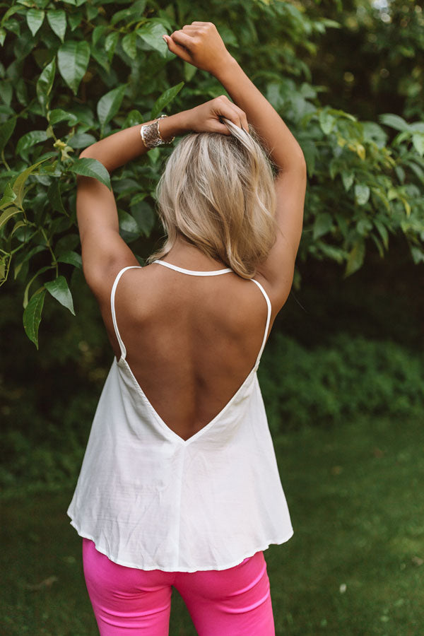 Everyday Perfection Shift Tank In White