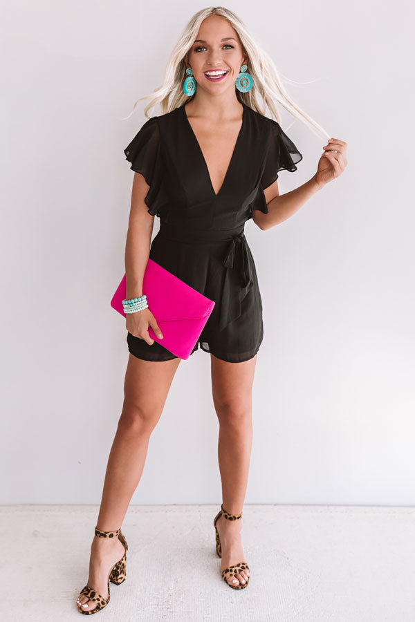 Room Service And Luxury Romper In Black