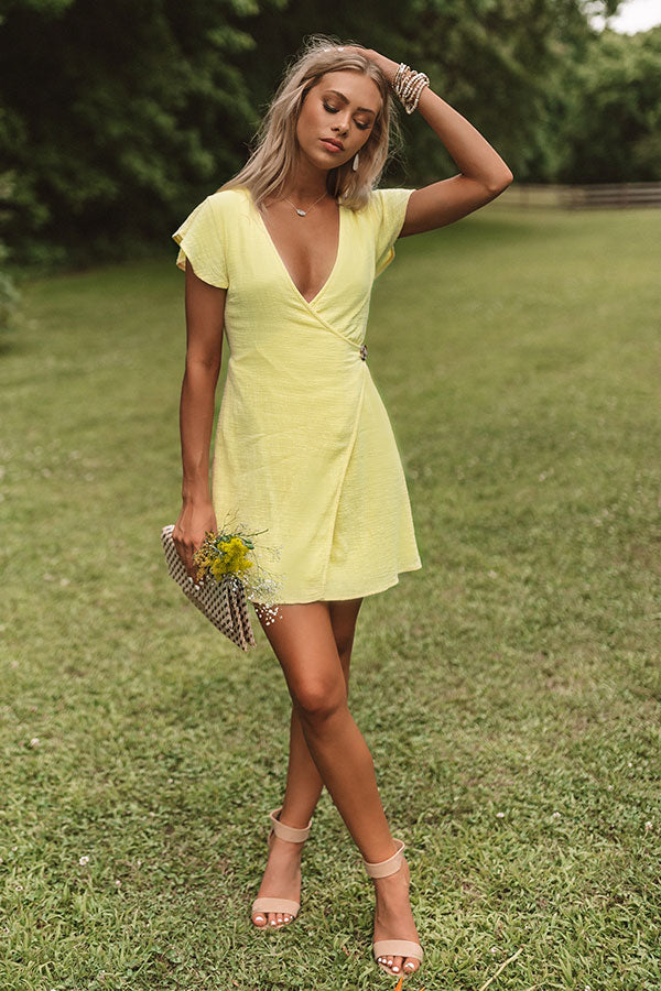 Weekend Wrap Up Dress In Yellow