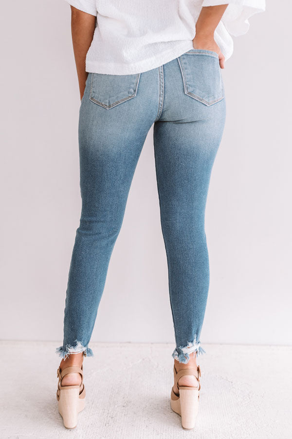 The Stormi High Waist Distressed Skinny