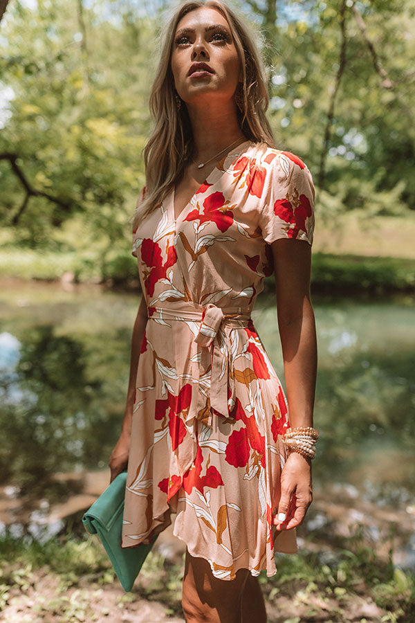 Wildflower Fields Wrap Dress