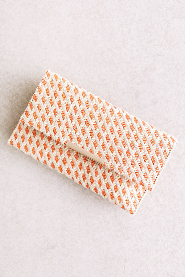 Casual Elegance Clutch In Persimmon