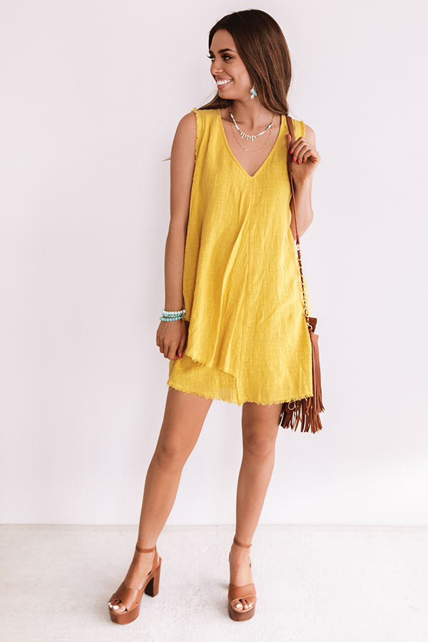 Garden Of Chic Shift Dress In Primrose Yellow