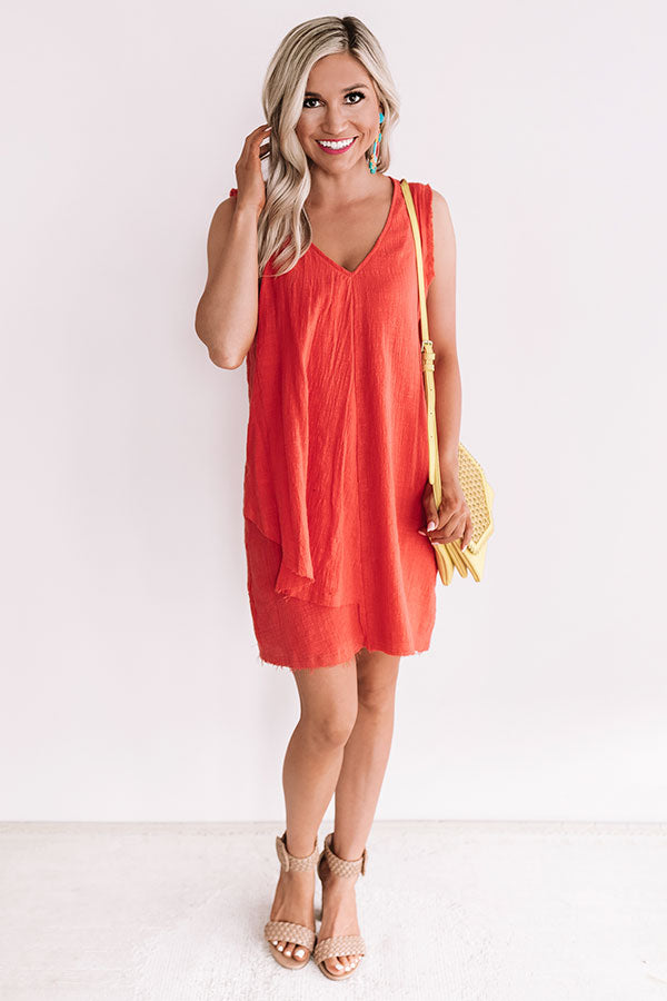 Garden Of Chic Shift Dress In Coral
