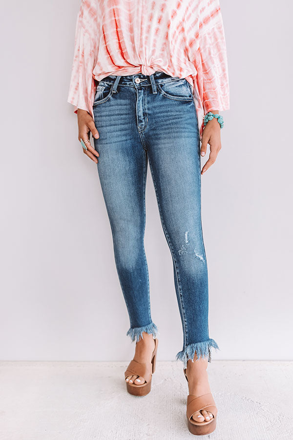The Shay High Waist Frayed Skinny