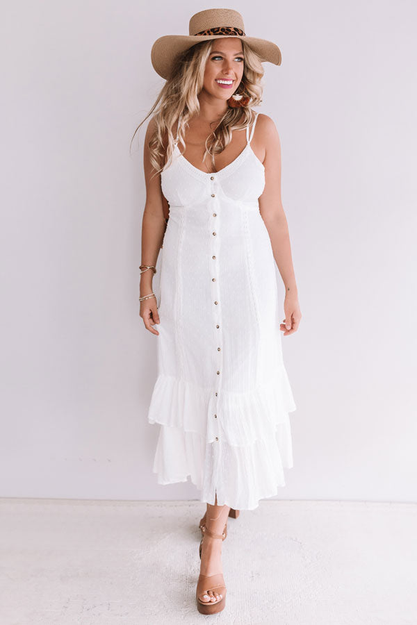 Beachy Delight Button Up Maxi