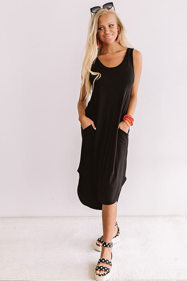 Southern Simplicity Midi In Black