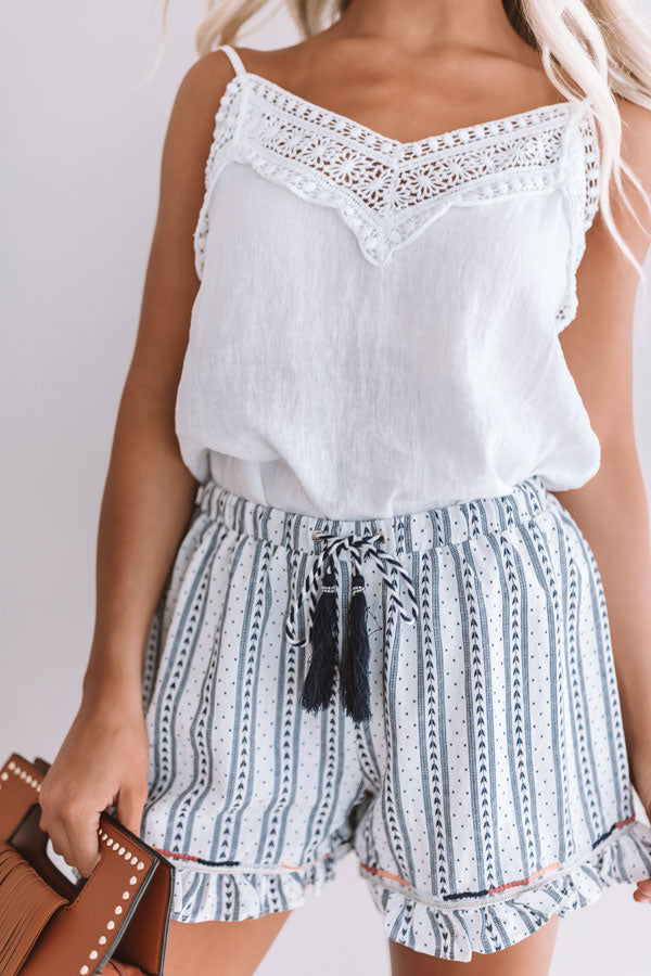 Beach Retreat Embellished Trim Shorts