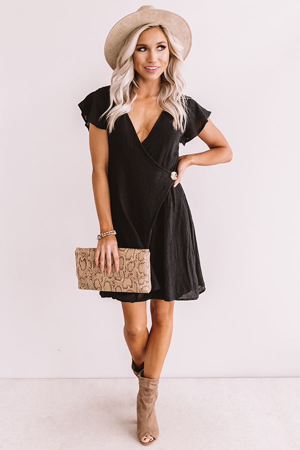 Weekend Wrap Up Dress In Black