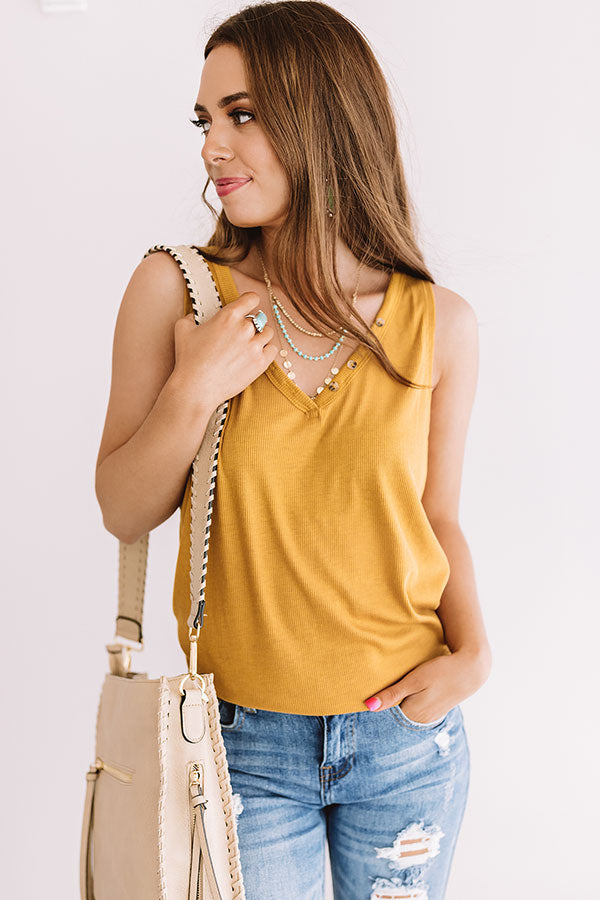 Waiting For The Sun Shift Tank In Mustard