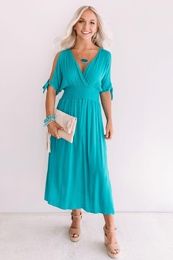 Passport To Prague Maxi In Turquoise