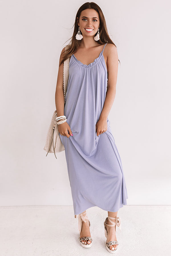 Swooning In Bali Maxi In Lavender