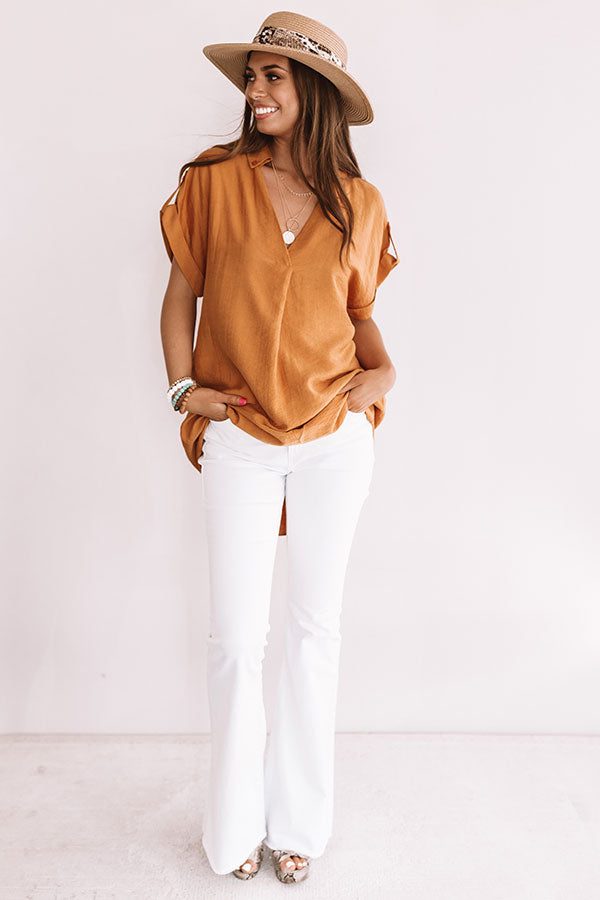 High Line Happy Hour Shift Top In Copper