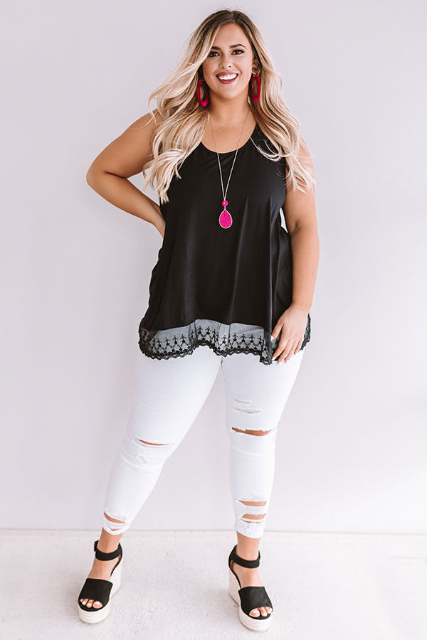 Adorable In Athens Shift Tank In Black