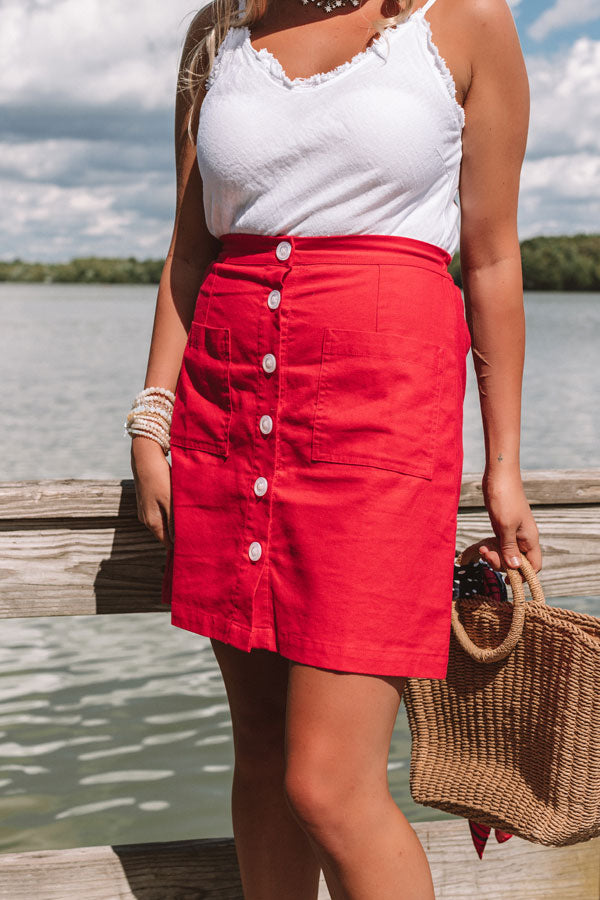 Casual Embrace Button Up Skirt
