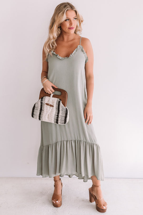 Your'e My Sweetheart Midi In Sage