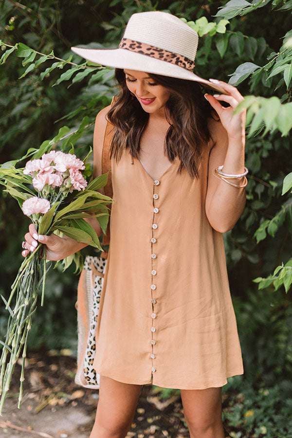 Friends In Fiji Button Down Tunic Tank In Camel