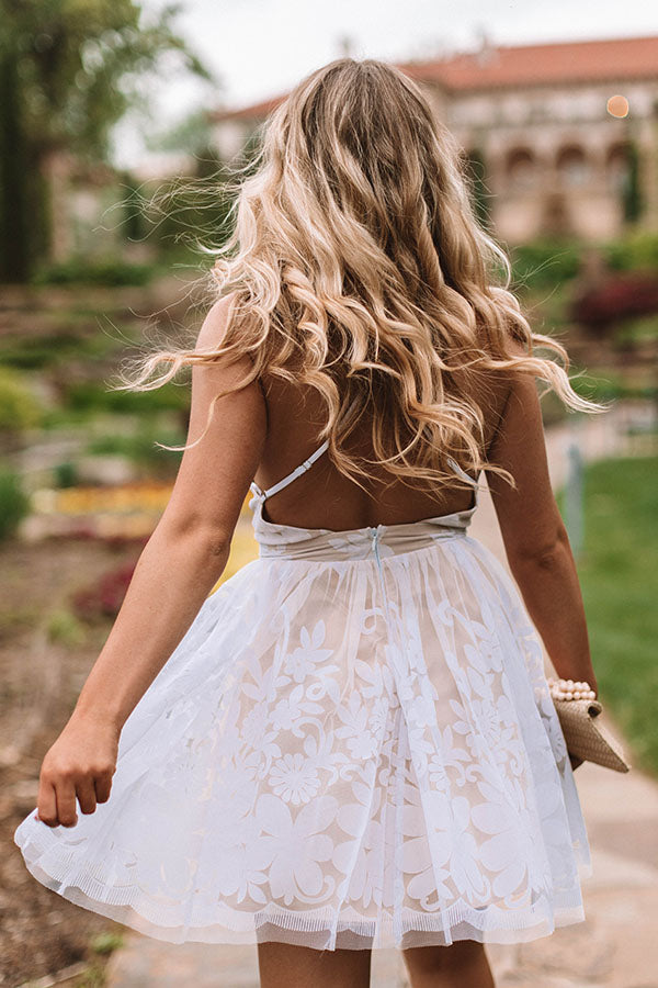Night At The Ballet Fit and Flare Dress In White