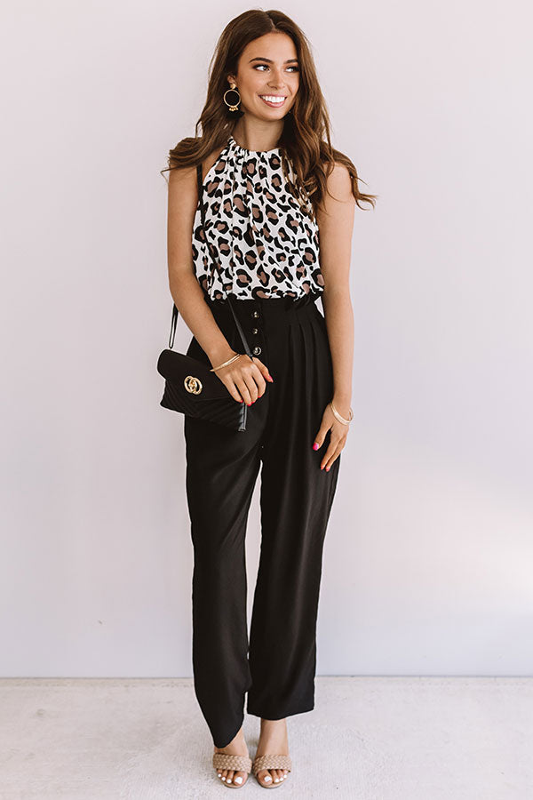 Classic And Casual Leopard Shift Tank