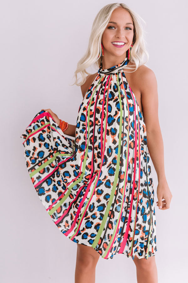 No Paparazzi Please Halter Dress