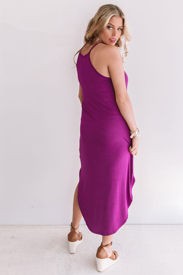 Coasts And Cocktails T-Shirt Midi In Orchid