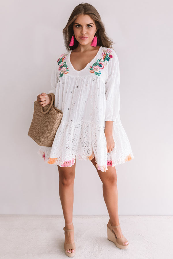 Havana Happy Embellished Babydoll Tunic