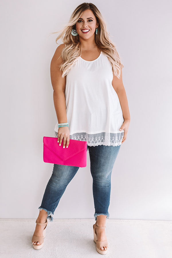 Adorable In Athens Shift Tank In Ivory