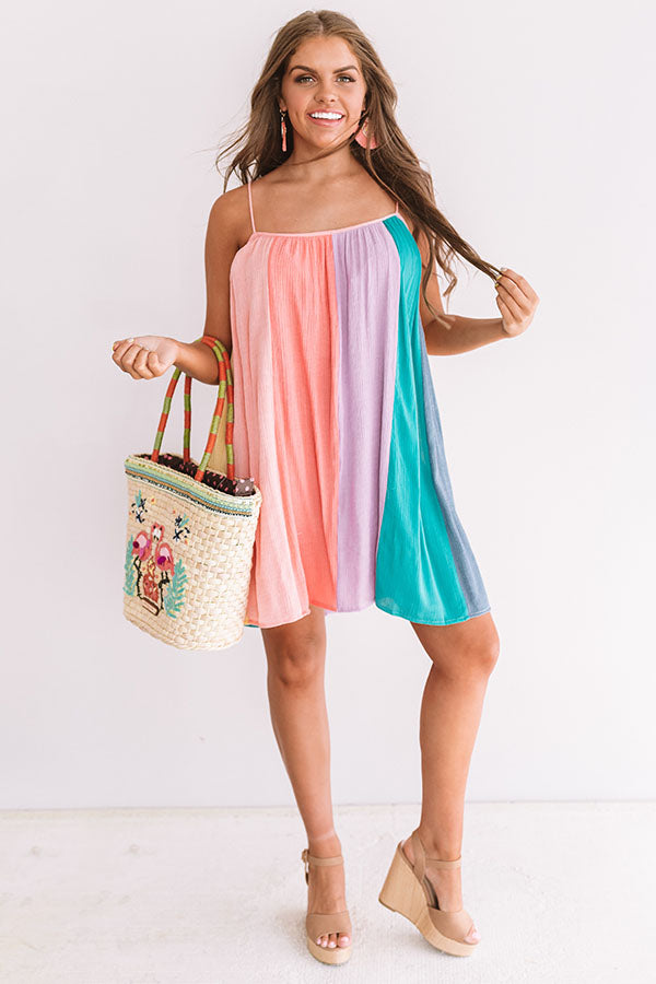 Cantinas And Cocktails Stripe Dress