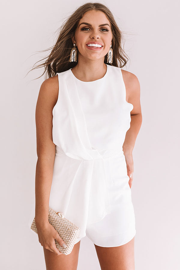Casual Elegance Romper In White