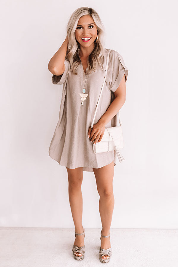High Line Happy Hour Shift Top In Mocha