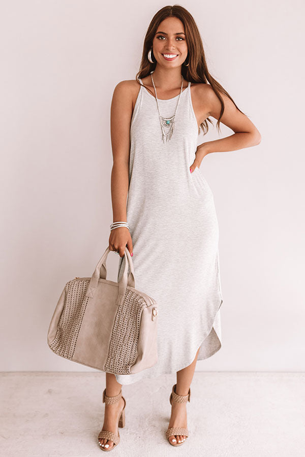Coasts And Cocktails T-Shirt Midi In Grey
