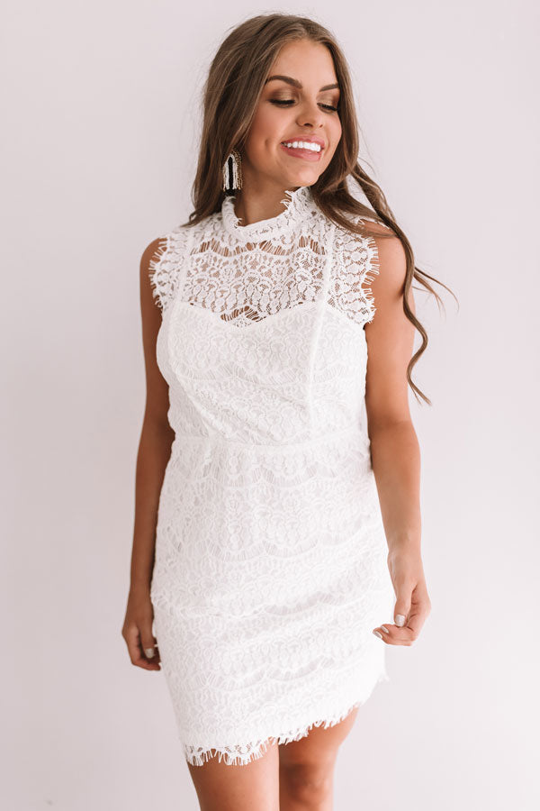Limos And Luxury Lace Dress In Ivory