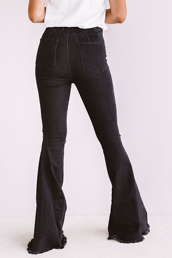 The Blakely High Waist Flares In Black