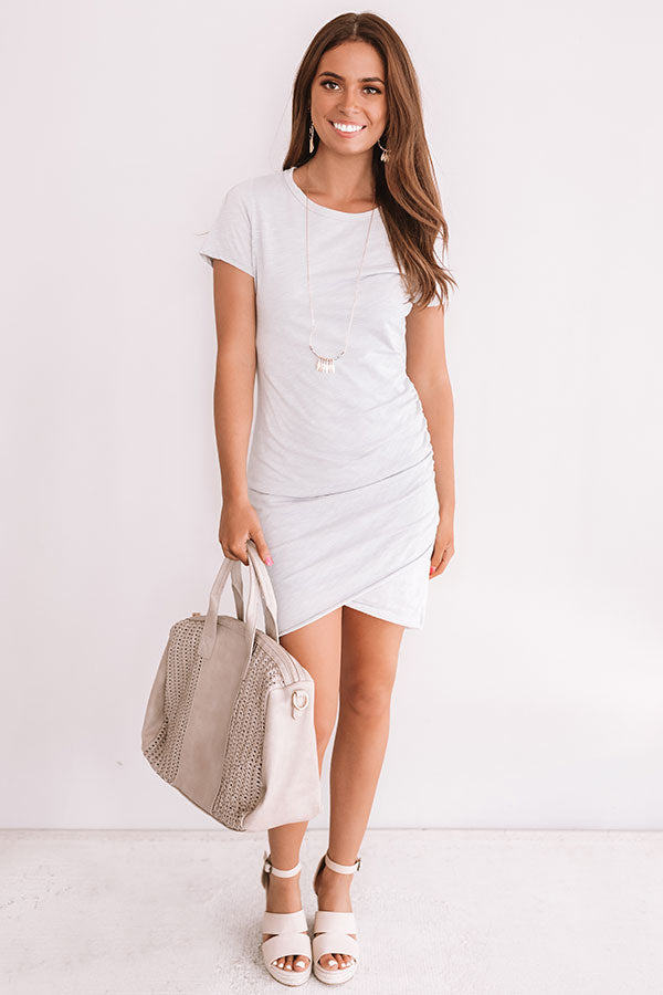 Coveted Chic Dress In Grey